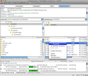 FileZilla 2017 Free Download Screenshot